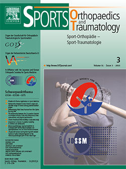 Sportorthopaedie Traumatologie Magazine