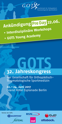 PreDay Flyer 32. Jahreskongress der GOTS – 22. Juni 2017 – Grand Hotel Esplanade Berlin